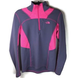North Face FlashDry 1/4 Zip Pullover Size Small